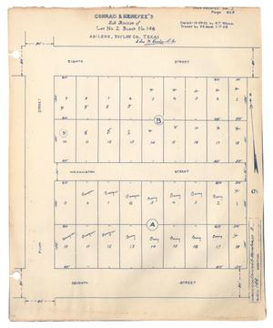 Primary view of object titled 'Conrad & Menefee's Subdivision of Lot Number 2, Block Number 146, Abilene, Taylor County, Texas [#2]'.