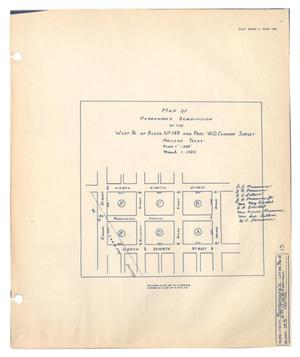 Map of Parramore's Subdivision of the West 3/4 of Block No. 149 and Part W. G. Cannon Survey, Abilene, Texas.