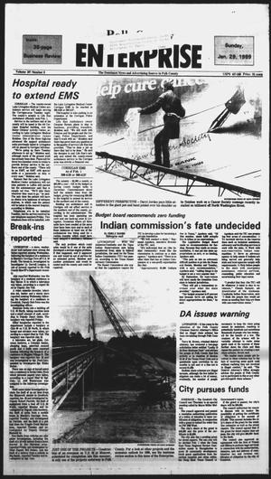 Primary view of object titled 'Polk County Enterprise (Livingston, Tex.), Vol. 107, No. 9, Ed. 1 Sunday, January 29, 1989'.