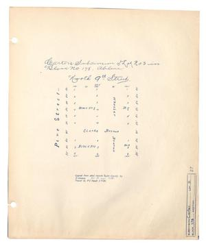 Primary view of object titled 'Carter's Subdivision of Lot Number 2 in Block Number 178, Abilene, Texas'.