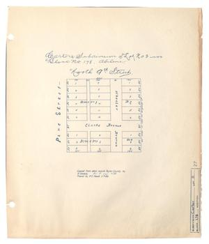 Primary view of object titled 'Carter's Subdivision of Lot Number 2 in Block Number 178, Abilene.'.