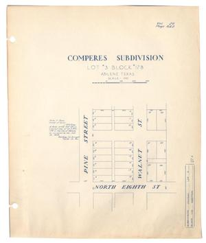 Primary view of object titled 'Comperes Subdivision, Lot #3, Block #178, Abilene, Texas'.