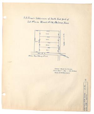 A. B. Jones' Subdivision of South East part of Lot Number 4 in Block Number 178, Abilene, Texas.