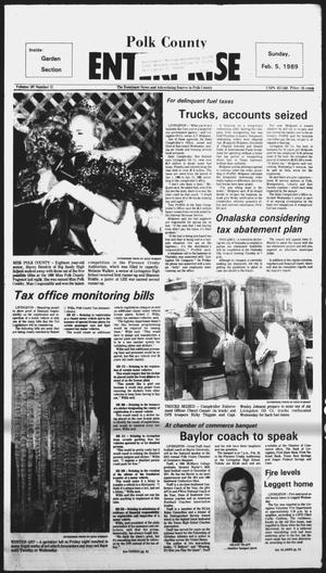 Primary view of object titled 'Polk County Enterprise (Livingston, Tex.), Vol. 107, No. 11, Ed. 1 Sunday, February 5, 1989'.