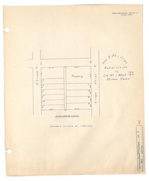 Primary view of object titled 'George P. Phillips' Subdivision of Lot Number 1, Block 183, Abilene, Texas.'.