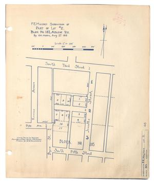 Primary view of object titled 'F. E. Haynes Subdivision of Part of Lot #2, Block Number 185, Abilene, Texas [#2]'.