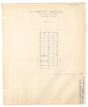 Primary view of object titled 'M. C. Lambeth's Subdivision Outlot 2, Block 186, Abilene, Texas'.