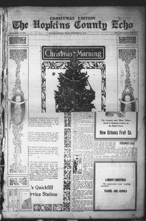 Primary view of object titled 'The Hopkins County Echo (Sulphur Springs, Tex.), Ed. 1 Sunday, December 21, 1919'.