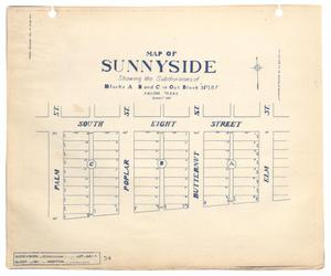 Primary view of object titled 'Map of Sunnyside'.