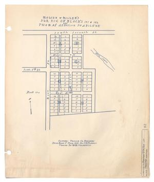 Primary view of object titled 'Mouser & Miller's Subdivision of Blocks 191 & 192 and Thomas' Addition to Abilene'.