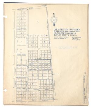 Map of A. E. Pool's Subdivision of the North One Half of Lot Number 3, Block 199, Abilene, Taylor County, Texas [#2]