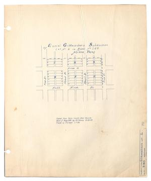 Primary view of object titled 'Daniel Gildmacher's Subdivision of Lot Number 2 in Block Number 20, Abilene, Texas'.