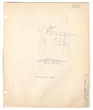 Primary view of object titled 'Map of Chas Motz Sr. Subdivision of a part of Original Lot Number 2 in Block Number 202 of the City of Abilene in Taylor County, Texas'.