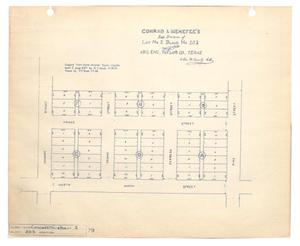 Primary view of object titled 'Conrad & Menefee's Subdivision of Lot Number 2, Block Number 203, Abilene, Taylor County, Texas'.