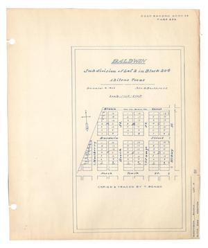Primary view of object titled 'Baldwin Subdivision of Lot 2 in Block 204, Abilene, Texas'.