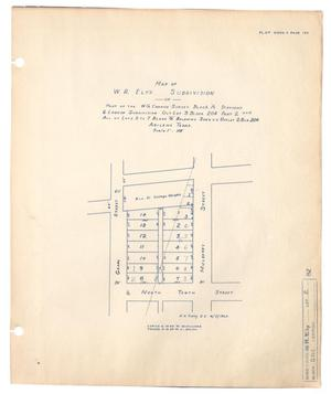 Primary view of object titled 'Map of W. F. Ely's Subdivision of Part of the W. G. Cannon Survey.'.