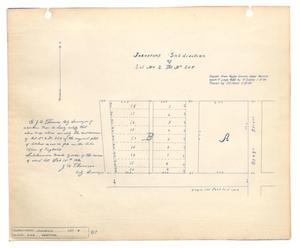 Map of Johnstons' Subdivision of Lot Number 2, Block Number 205