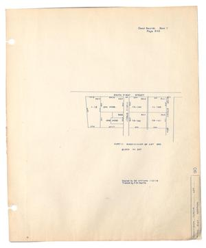 Primary view of object titled 'Curtis Subdivision of Lot One, Block Number 207'.