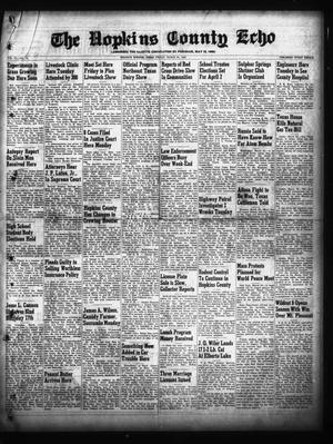 Primary view of object titled 'The Hopkins County Echo (Sulphur Springs, Tex.), Vol. 74, No. 12, Ed. 1 Friday, March 25, 1949'.