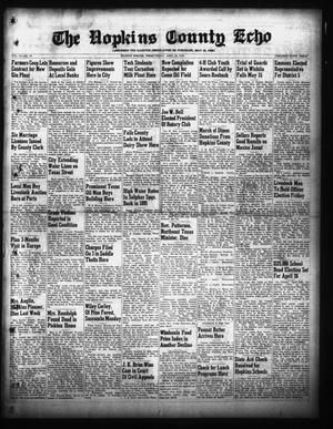 Primary view of object titled 'The Hopkins County Echo (Sulphur Springs, Tex.), Vol. 74, No. 16, Ed. 1 Friday, April 22, 1949'.
