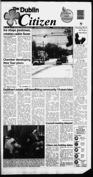 Primary view of object titled 'The Dublin Citizen (Dublin, Tex.), Vol. 24, No. 15, Ed. 1 Thursday, December 12, 2013'.
