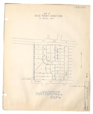 Primary view of object titled 'Map of High Point Addition to Abilene, Texas'.
