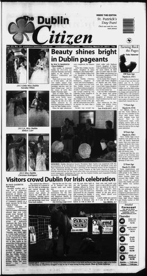 Primary view of object titled 'The Dublin Citizen (Dublin, Tex.), Vol. 23, No. 29, Ed. 1 Thursday, March 21, 2013'.
