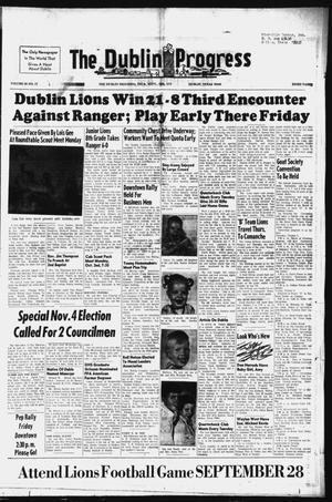 Primary view of object titled 'The Dublin Progress (Dublin, Tex.), Vol. 89, No. 17, Ed. 1 Thursday, September 28, 1972'.