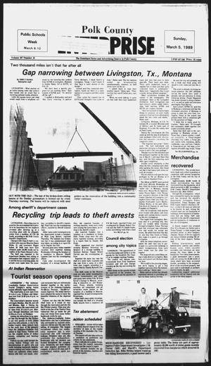Primary view of object titled 'Polk County Enterprise (Livingston, Tex.), Vol. 107, No. 19, Ed. 1 Sunday, March 5, 1989'.