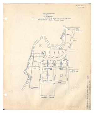 Primary view of object titled 'Continuation of Elmwood, a Subdivision of Parts of Blocks 8 and 9, B. Austin Survey Number 91, Taylor County, Texas'.