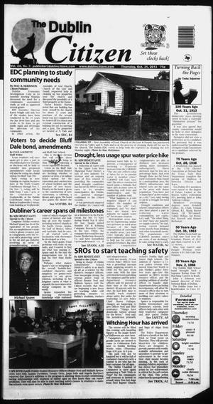 Primary view of object titled 'The Dublin Citizen (Dublin, Tex.), Vol. 24, No. 9, Ed. 1 Thursday, October 31, 2013'.