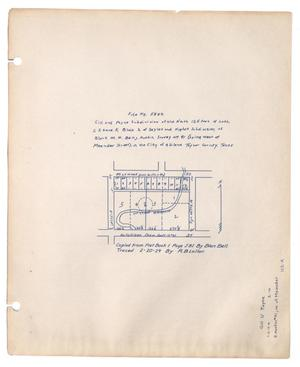 Primary view of object titled '[Map of] Gill and Payne Subdivision, Taylor County, Texas [#1]'.
