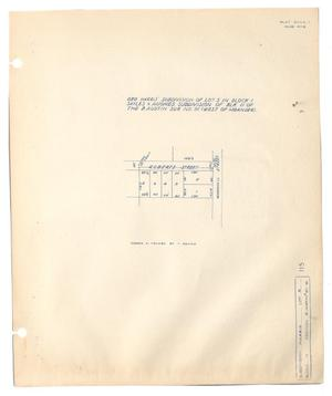Primary view of object titled 'George Harris' Subdivision of Lot 5 in Block 1, Sayles & Hughes Subdivision of Block 11 of the B. Austin Survey Number 91, (West of Meander).'.