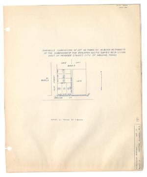 Primary view of object titled 'Darnell's Subdivision of Lot Number Three (3) in Block Number Three (3) of the Subdivision of the Benjamin Austin Survey Number 91 (Lying East of Meander Street), City of Abilene, Texas'.