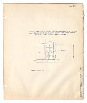Primary view of object titled 'Darnell's Subdivision of Lot No. Four (4) in Block No. Six (6) of the Subdivision of the Benjamin Austin Survey No. 91 (Lying East of Meander Street), City Abilene, Texas.'.
