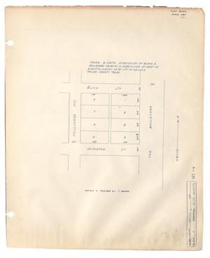 Primary view of object titled 'Frank E. Smith Subdivision of Block 6, Boulevard Heights, a Subdivision of Part of Benjamin Austin Survey Number 92, City of Abilene, Taylor County, Texas'.