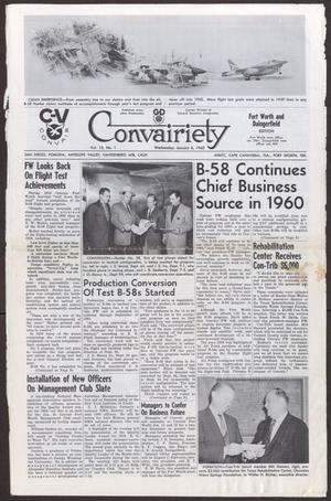 Primary view of object titled 'Convairiety, Volume 13, Number 1, Wednesday, January 6, 1960'.