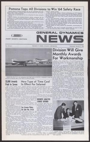 Primary view of object titled 'General Dynamics News, Volume 18, Number 3, Wednesday, February 3, 1965'.
