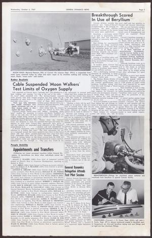 Primary view of object titled 'General Dynamics News, Volume 20, Number 20, Wednesday, October 4, 1967'.
