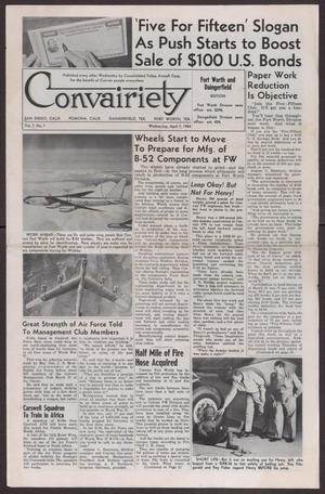 Primary view of object titled 'Convairiety, Volume 7, Number 7, Wednesday, April 7, 1954'.