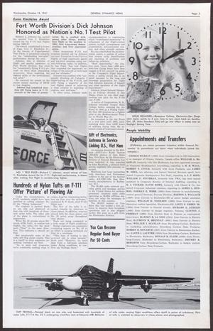 Primary view of object titled 'General Dynamics News, Volume 20, Number 21, Wednesday, October 18, 1967'.