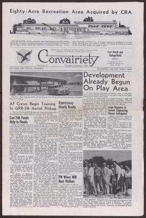 Primary view of object titled 'Convairiety, Volume 8, Number 18, Wednesday, September 7, 1955'.