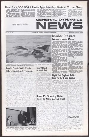 Primary view of object titled 'General Dynamics News, Volume 21, Number 8, Wednesday, April 10, 1968'.