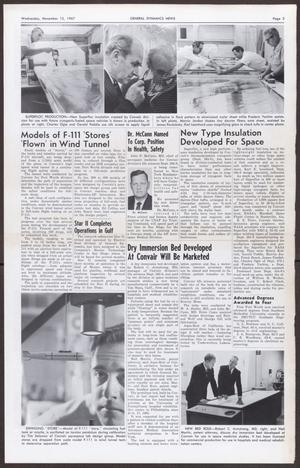 Primary view of General Dynamics News, Volume 20, Number 23, Wednesday, November 15, 1967