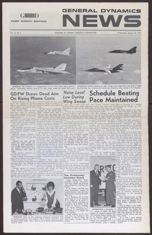 Primary view of object titled 'General Dynamics News, Volume 18, Number 2, Wednesday, January 20, 1965'.
