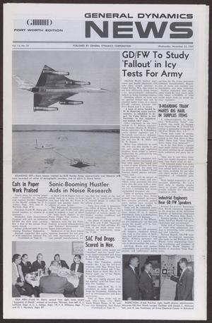 Primary view of object titled 'General Dynamics News, Volume 14, Number 24, Wednesday, November 22, 1961'.