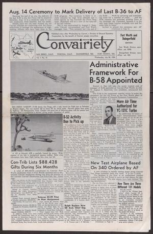 Primary view of object titled 'Convairiety, Volume 7, Number 15, Wednesday, July 28, 1954'.