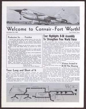 Primary view of object titled 'Welcome to Convair-Fort Worth!'.