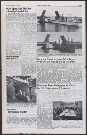 Primary view of object titled 'General Dynamics News, Wednesday, February 23, 1966'.