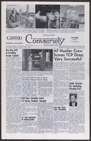 Primary view of object titled 'Convairiety, Volume 14, Number 17, Wednesday, August 16, 1961'.